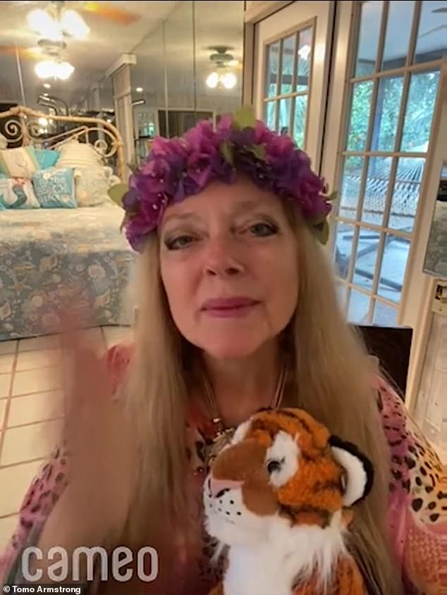 There are rumors that Lewis' wife Carole Baskin (pictured) fed her husband to tigers at their rescue farm in a bid to secure his fortune. She has strenuously denied the allegations
