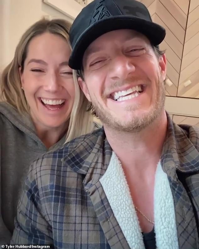 New arrival: Florida Georgia Line's Tyler Hubbard and his wife Hayley welcomed son Atlas Roy Hubbard to the world on Thursday, September 24