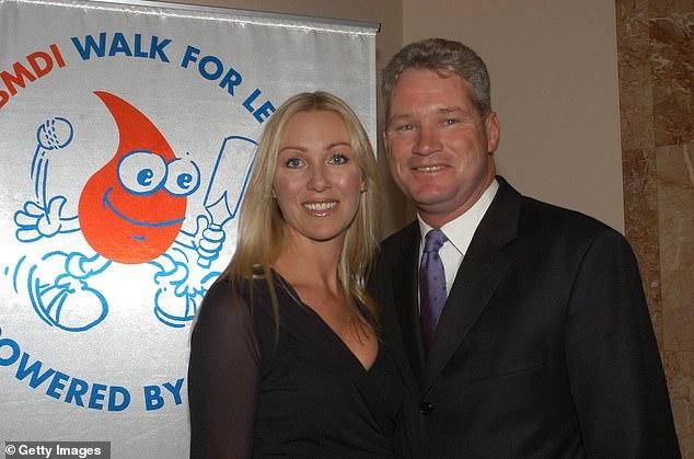 Jane Jones (pictured left) with her late husband, Australian cricket legend Dean Jones