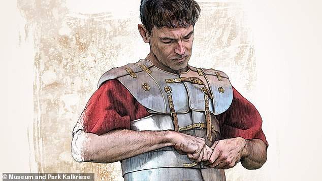 A cuirass is a piece of armour that protects the front and back of the torso made up of a breast and back plate