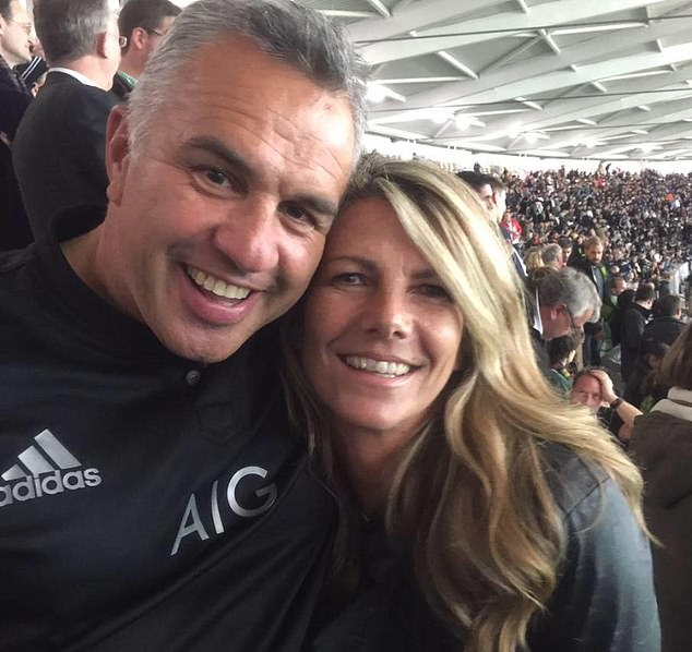 Sergeant Matiu Ratana (pictured with his partner Sue) was allegedly shot by a 23-year-old man who was detained for possession of ammunition at Croydon custody centre in South London