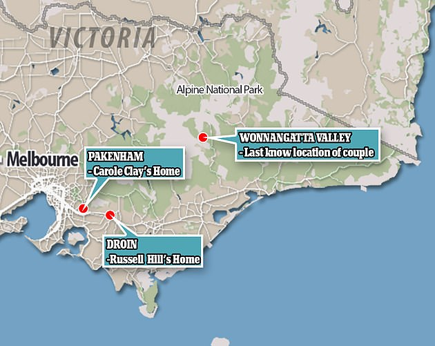 The pair went missing in the Wonnangatta Valley, more than 200km north east of Melbourne