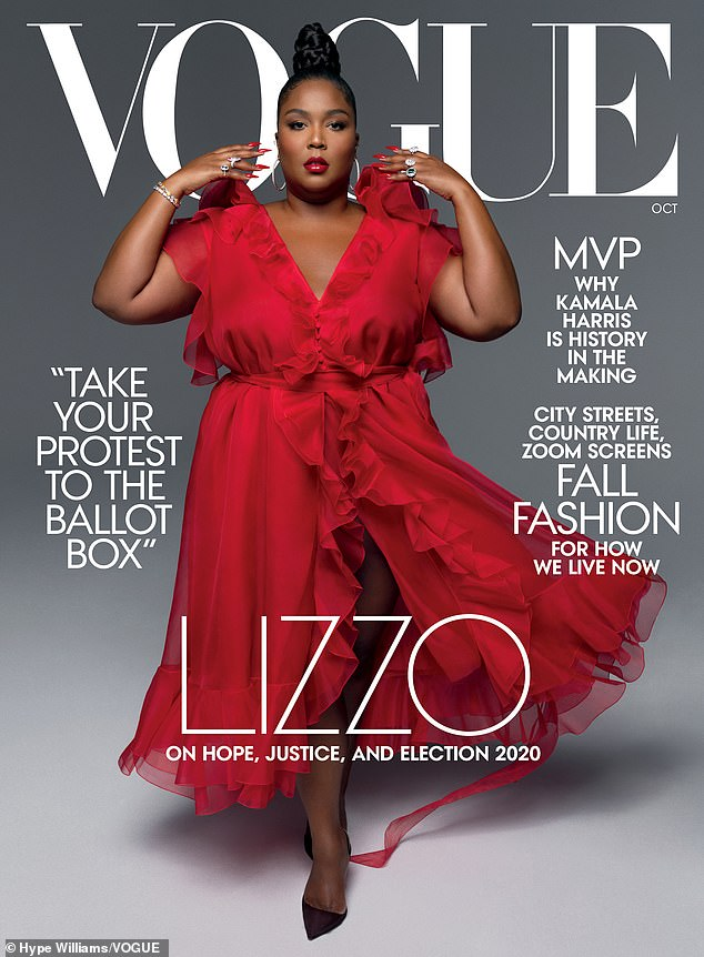 Plus-size pop star Lizzo appears on the cover of American Vogue, it must be said, rather fabulous
