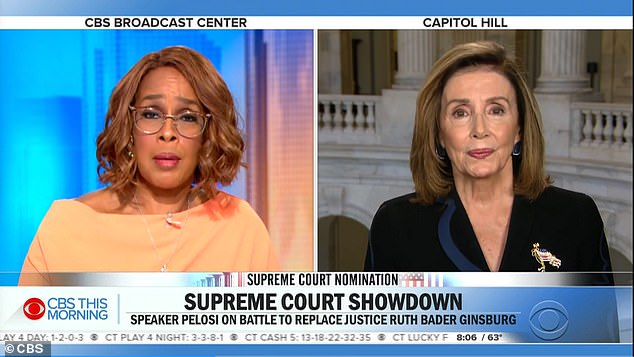 Nancy Pelosi spoke to Gayle King on Friday morning for CBS's This Morning