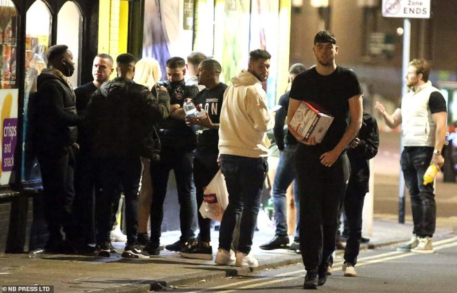 Revellers in Leeds were seen going into off-licences to buy booze once the bars and restaurants closed at 10pm
