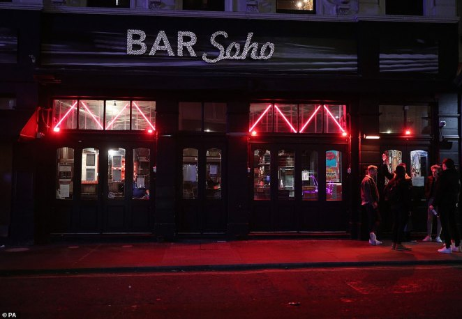 London Mayor Sadiq Khan said the capital was at a 'very worrying topping point', so the curfew which forced bars like this one in Soho to close at 10pm is hoped to stem the rise in cases