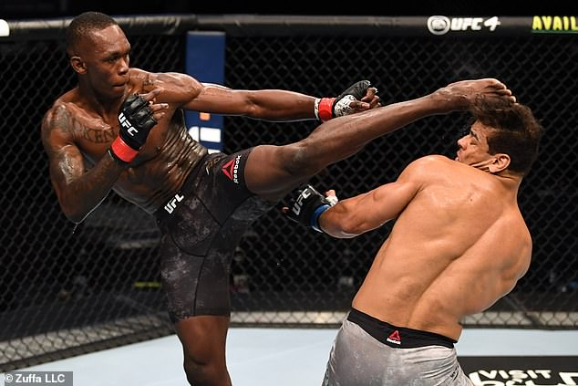Adesanya was expected to face a tough challenge in the undefeated Brazilian at Fight Island