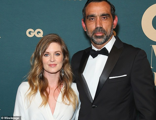 The career of Adam Goodes - pictured with wife Natalie Croker - and the persistent booing he received was documented in the documentary The Final Quarter