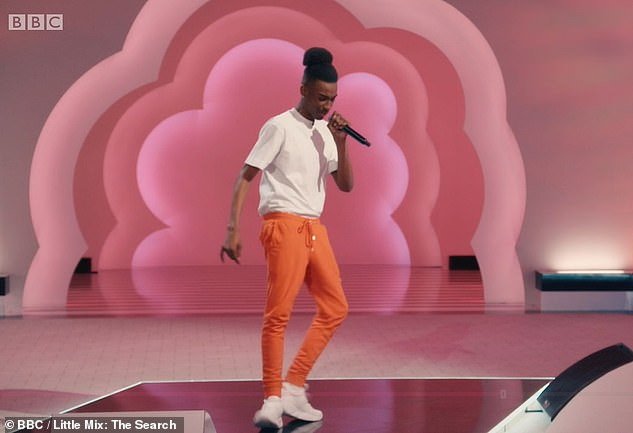 Let's do this: Viewers of Little Mix's new TV show which aired on Saturday night were blown away by contestant Zeekay's audition. The London boyband hopeful wowed his crowd with a rap/vocal