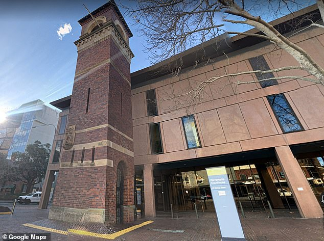 Gorshenin appeared at Parramatta Bail Court (pictured) via video link from Surry Hills police station on Sunday where he was seen muttering to himself 'this is crazy, crazy, crazy man' and 'the victim? what the f**k'