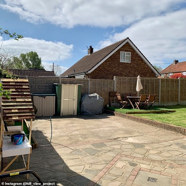 Matthew said homeowners would get the 'bug' once they realise that a lot of DIY is 'quite doable'. Pictured: The garden as it was before the transformation