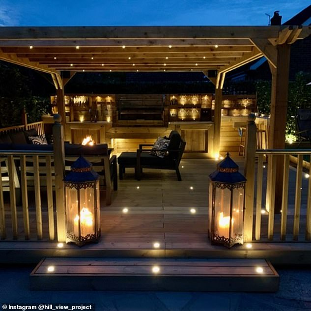 Matthew Johnson, 33, from Kent, wanted to transform his back garden into a BBQ kitchen area with seating and a pergola - but was quoted £20,000