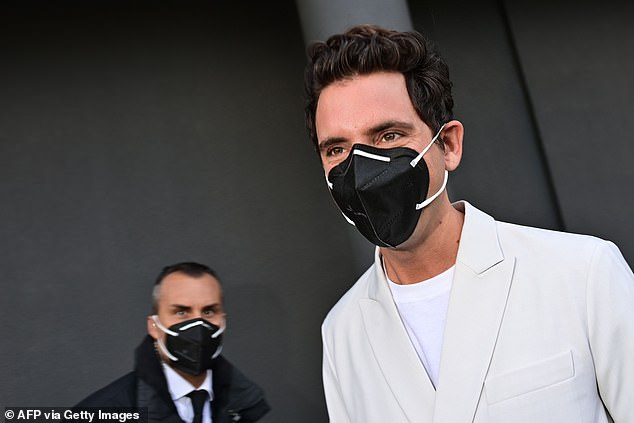 Better safe than sorry: The Beirut-born musician, 37, proved safety comes first as he sported a protective face mask to the star-studded presentation