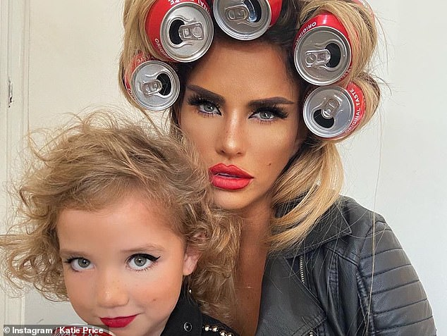 There's no stopping her: A month earlier, the reality star, 42, uploaded a slew of snaps of herself posing with her mini-me, who also rocked a leather jacket and the same make-up look