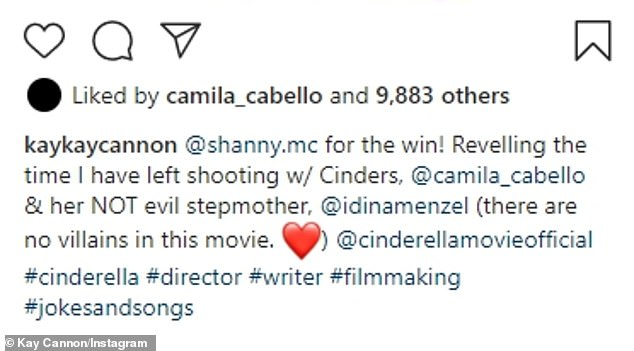 BTS: The 46-year-old filmmaker wrote that she was 'reveling the time' she had left shooting the Sony Picture with the talented twosome, noting there are 'no villains' in her adaptation co-written by James Corden