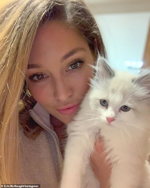 Welcome to the family!Erin McNaught and her husband rapper Example have welcomed a new addition to the family - a ragdoll kitten called Loki