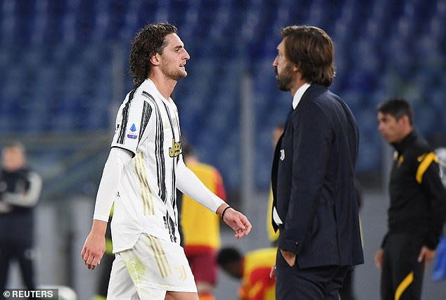 But that came only after Pirlo's men were reduced to 10 after Adrien Rabiot's sending off
