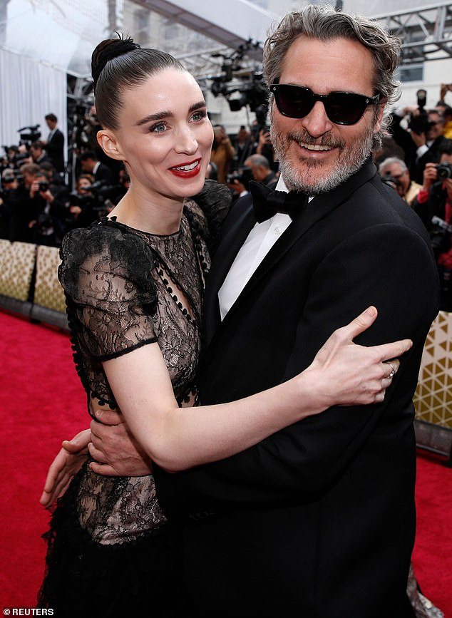 Baby makes three! Joaquin Phoenix has reportedly welcomed his first child with fiancée Rooney Mara, a baby boy named after his late brother River Phoenix (pictured in February, 2020)