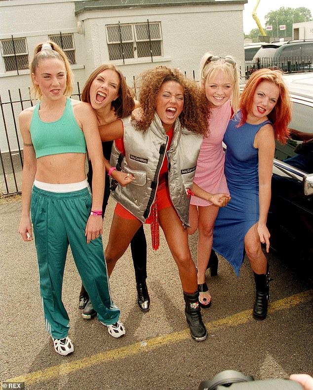 Fame: Spice Girls (pictured 1996 L-RMel C, Victoria Beckham, Mel B, Emma Bunton and Geri Halliwell)