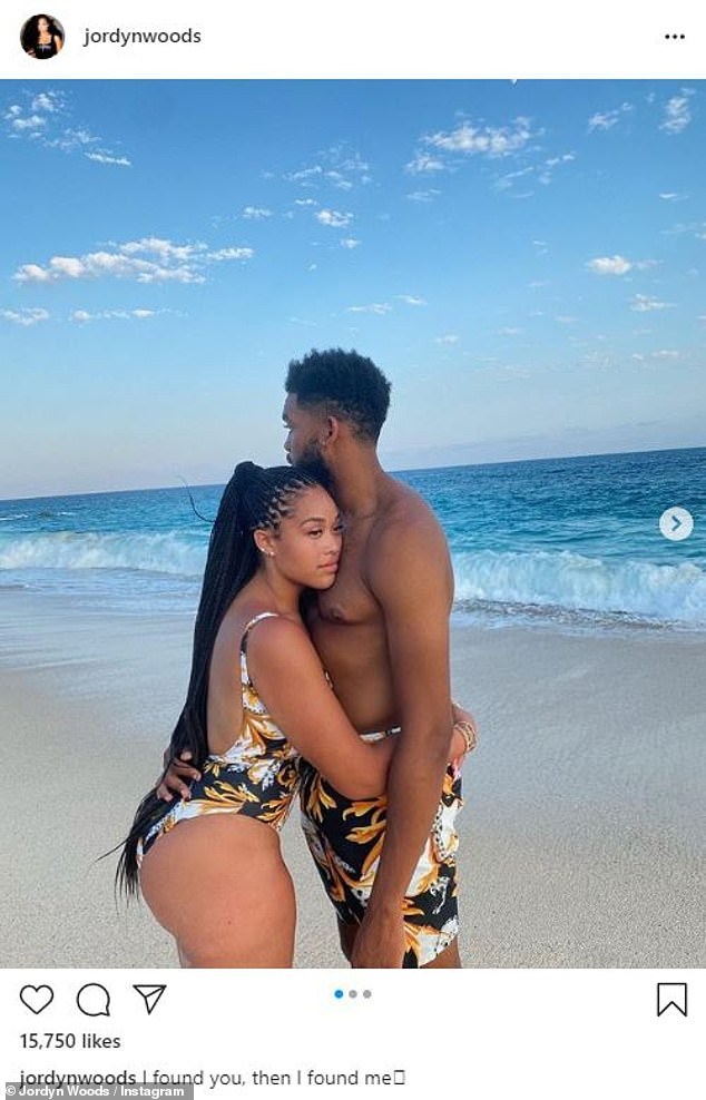 It's official: Jordyn Woods, 23, made her relationship with 24-year-old Minnesota Timberwolves player Karl-Antony Towns Instagram official on Sunday while in Cabo San Lucas, Mexico