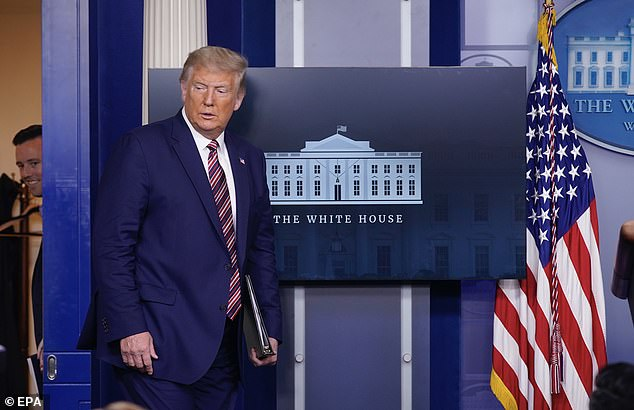 'I thought, though, on the religious situation with Amy – I thought we settled this 60 years ago with the election of John F. Kennedy,' Trump said during his briefing
