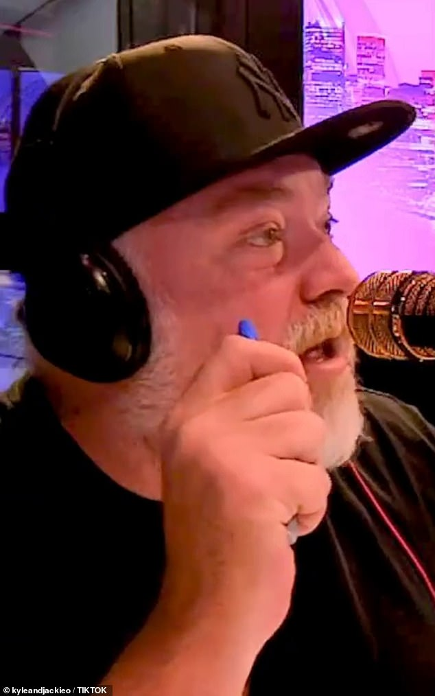 Hilarious: The awkward exchange occurred when Kyle Sandilands [pictured] took pity at George's life-long single status and informed him that Jackie was available and cheekily asked if he 'wanted to give her a run'
