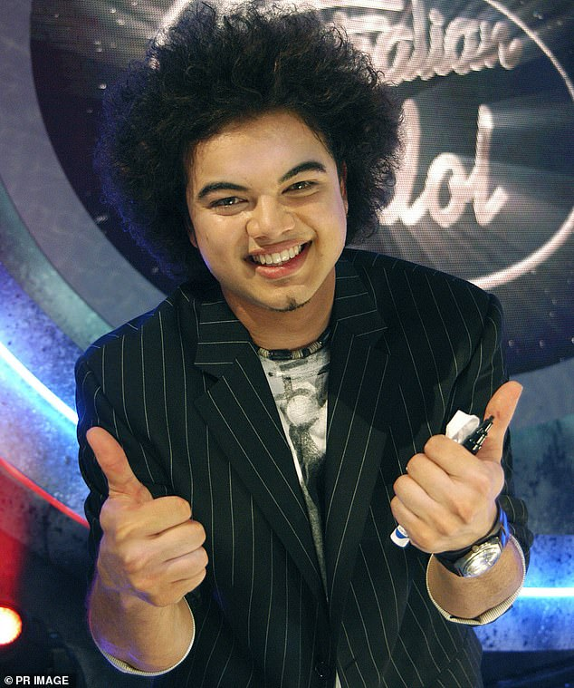 Blast from the past: Rumours are swirling that Channel 10 is looking to bring back Australian Idol with inaugural winner Guy Sebastian (pictured in 2003) as a judge
