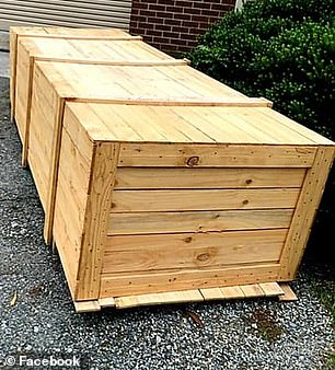 The woman said the old crate was given to her from a friend but mentioned she had seen similar versions sold on online marketplaces