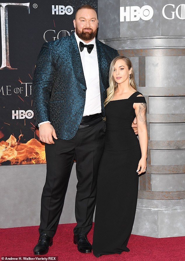 Iconic: On Game Of Thrones, he played the massive Gregor 'The Mountain' Clegane, brother of Sandor 'The Hound' Clegane, from seasons four through eight; shown together in April 2019