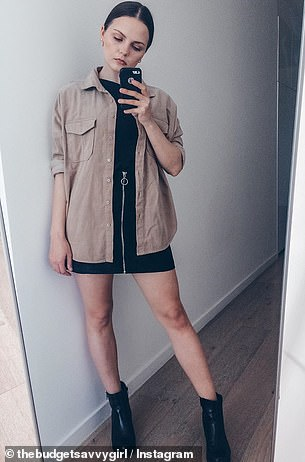Melbourne stylist Maria, who posts as The Budget Savvy Girl, said she loves the 'edginess' the ribbed texture adds to an outfit