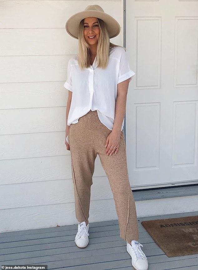 Melbourne fashion blogger Jess Dakota wears Kmart's $15Short Sleeve Half Placket Shirt, which she called comfortable yet stylish