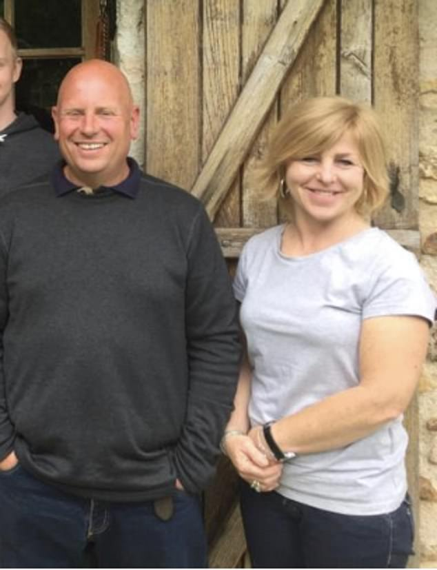 Steve and Karen Milsom pictured in France just weeks before she vanished without a trace