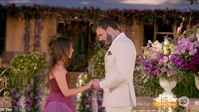 Heartbreak: Bella was left teary-eyed, shell-shocked and blindsided after Locky Gilbert dumped her for arch-nemesis Irena Srbinovska in the nail-biting finale of The Bachelor