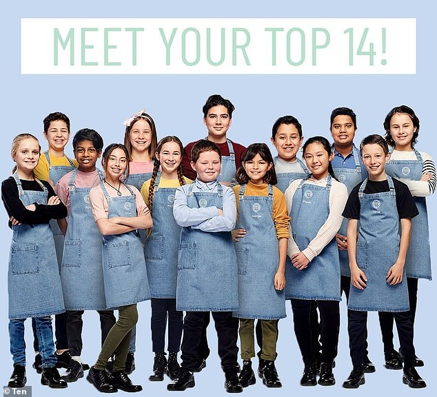 Meet the team: Junior MasterChef Australia is almost here, and in two weeks, 14 of the nation's youngest cooks (pictured) will vie for the position of top aspiring chef