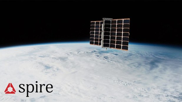 The artist's impression of the spacecraft, which will join a fleet of more than 100 objects in low Earth orbit that work together to track ships' whereabouts and predict global ocean traffic