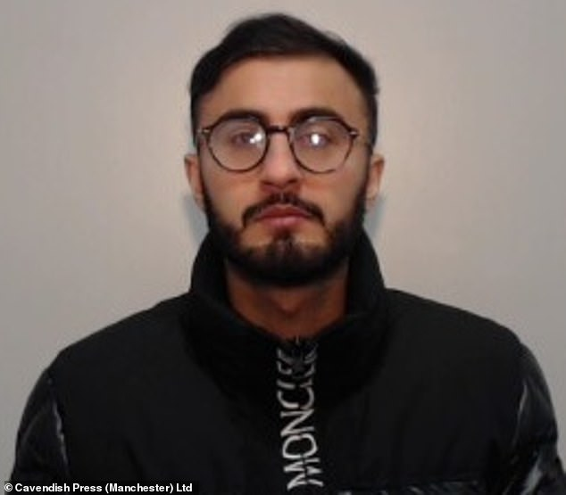 Sohail Yousif (pictured), 28, was driving home to Great Lever, Bolton, after drinking in a Manchester nightclub on February 9 last year when he ploughed into the back of a taxi