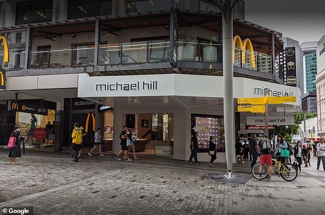 An elite private school student on a basketball scholarship has been charged with attempted murder after a 16-year-old suffered a collapsed lung in an alleged stabbing at Brisbane's Queen Street Mall (pictured, file image) on Friday night