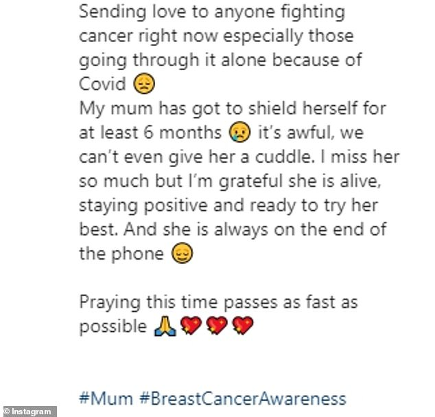Open: The wife of presenter Paddy McGuinness sent her own support to those who were battling cancer, and insisted that she was keeping positive