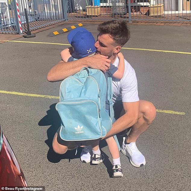 All love: Beau Ryan paid tribute to his three-year-old son, Jesse, in a sweet post on Instagram on National Sons Day on Monday