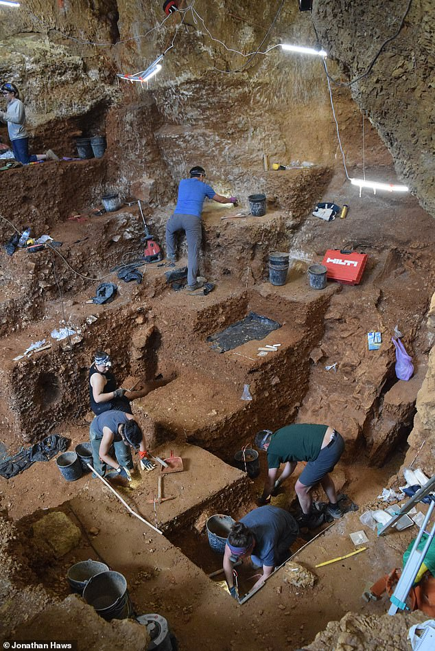 The finds — which date back to around 41,000–38,000 years ago — link the cave, pictured, to other sites across Eurasia and the Russian plain that have yielded similar tools