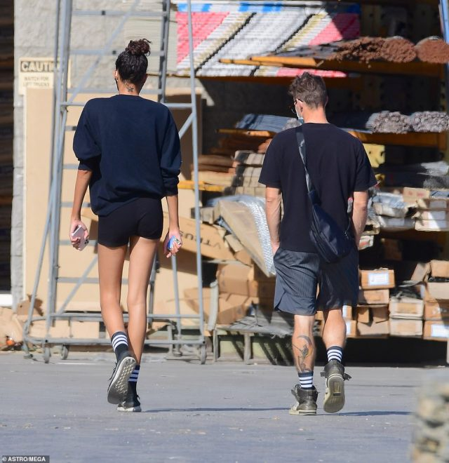 Nickayla and Ryan were seen outdoor at Target and a hardware store in Los Angeles on September 19. They each flashed their tattoos, with Nickayla's on the back of her neck and Ryan's on the back of his calf