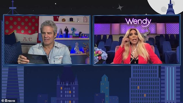 Get out: Wendy Williamsgave her unfiltered thoughts about Kim and Kanye's relationship saying they should divorce 'sooner than later' while chatting with Andy Cohen on the Watch What Happens Live After Show on Sunday night