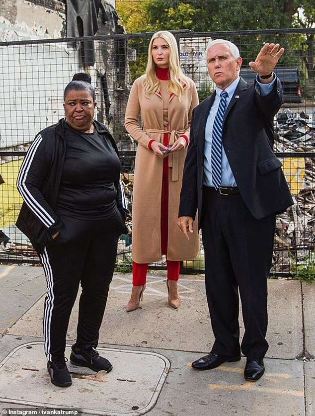 Visit: While in Minneapolis, Minnesota, Ivanka visitedFlora's Hair Design, a small business that was burned to the ground