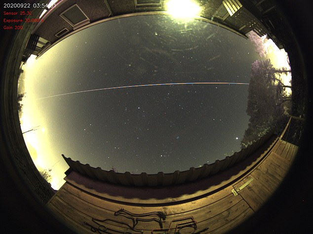 More than 100 people reported seeing the meteoroid and shared images they snapped of the event