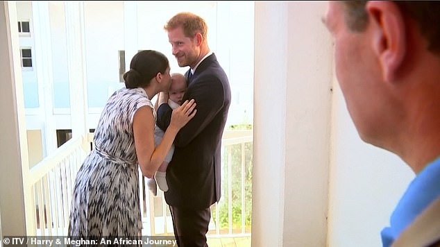 While a spokesperson for the Sussexes (pictured here with his son Archie) denied appearing on a 'reality show', the suggestion that they could personally be featured in a documentary series produced by their new production company had not been ruled out.