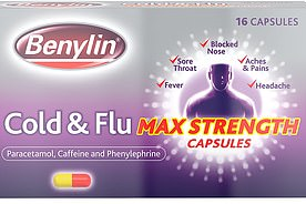 Benylin Cold and Flu Max Strength capsules, 16 caps, £2.50