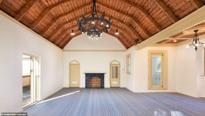 The purchase of the property comes just three months after it was put on the market with the asking price of $40million (pictured, inside the mansion)