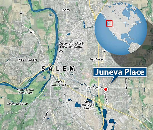The hostage situation was located in Juneva Place to the east of Salem in Oregon