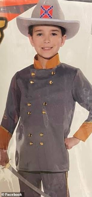 The above image shows a Halloween costume of a Confederate officer