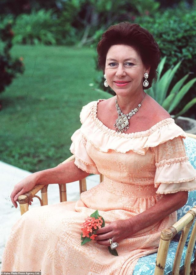 Royal star:Spending more time abroad at her holiday home in Mustique, she continued to embark on various worldwide tours on behalf of her sister The Queen, including China, Swaziland and The Phillippines